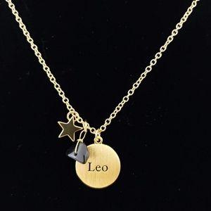 Jewelry - Leo Zodiac Gemstone Constellation Necklace